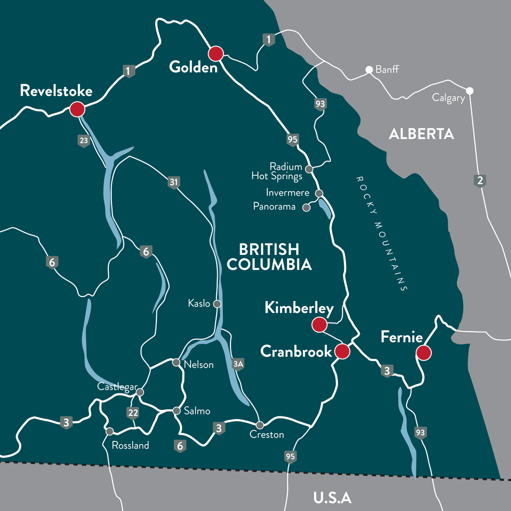 Sled Kootenays Snowmobile map